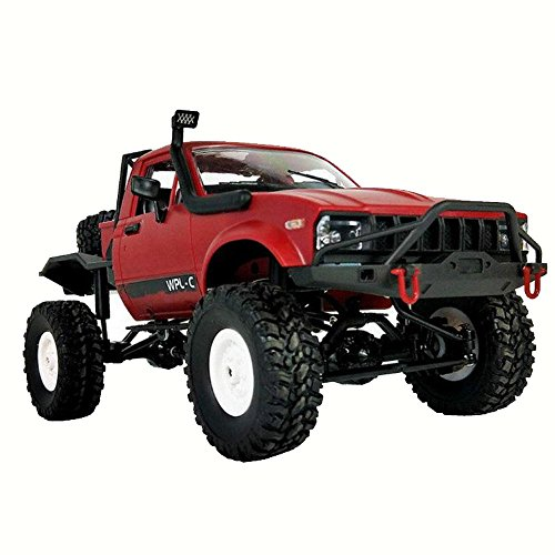 Yezijin Remote Control Car, 1:16 WPL C14 Scale 2.4G 2CH 4WD Mini Off-Road RC Semi-Truck RTR Kids Climb Truck