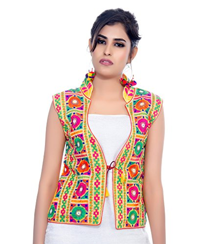 Free Jacket Patterns (Banjara India Kutchi Waist Length Jacket (Bharchak) (Yellow))