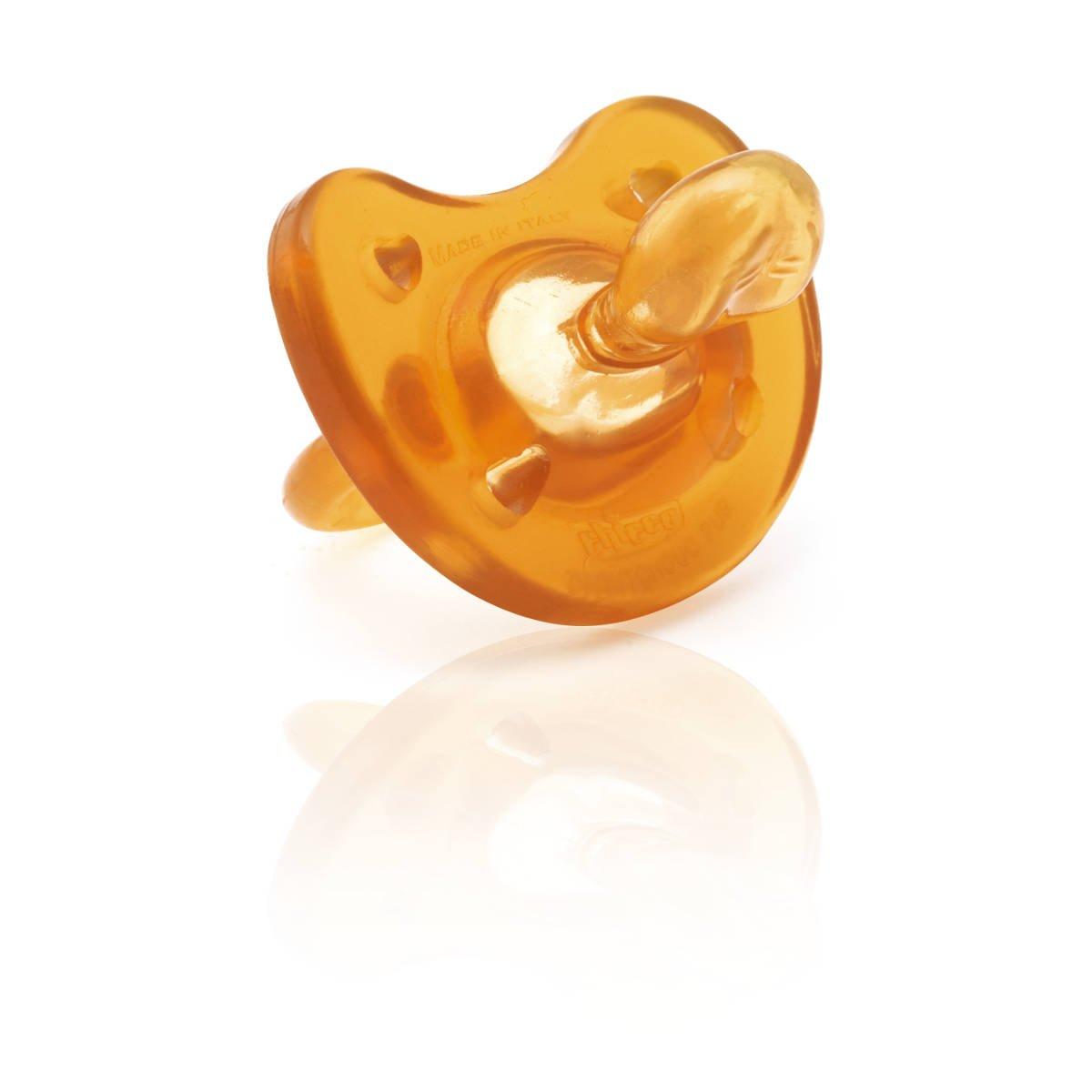 Chicco Todogoma Physio Soft - Chupete de caucho para bebé, 0-4 meses, color marron