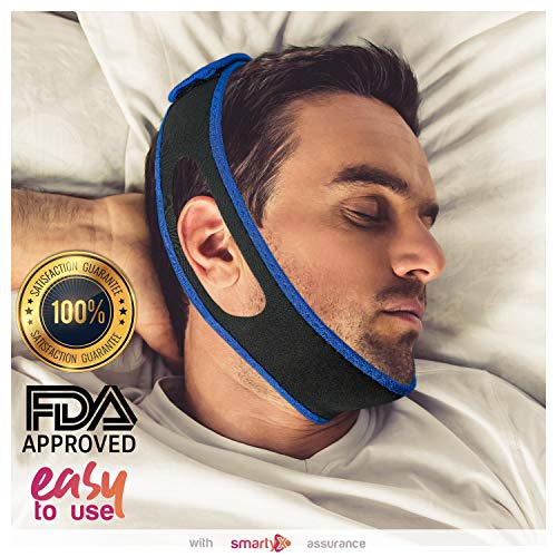 SmartyX Anti snoring Chin Strap Device - as Snore Stop, Sleep Solution Upgrade 2018 - Adjustable Snore Stopper for Women & Men
