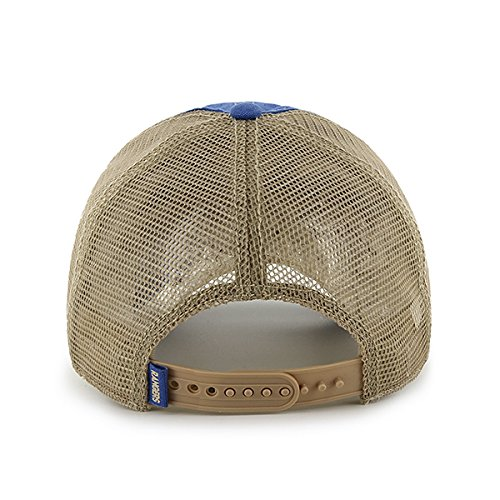 Texas Rangers 47 Brand Montego Blue Big Sur Clean Up Snapback Mesh Hat Cap