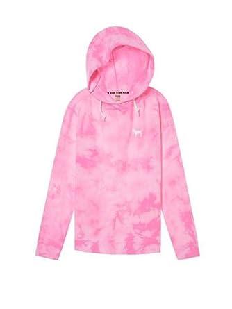 d43a43b565381 Victoria's Secret Pink Hoodie Campus Crossover Tunic Sweatshirt
