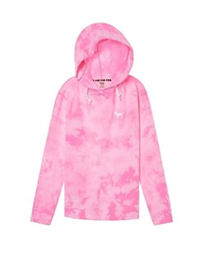 Victoria s Secret Pink Hoodie Campus Crossover Tunic Sweatshirt at Amazon  Women s Clothing store  b48399441a