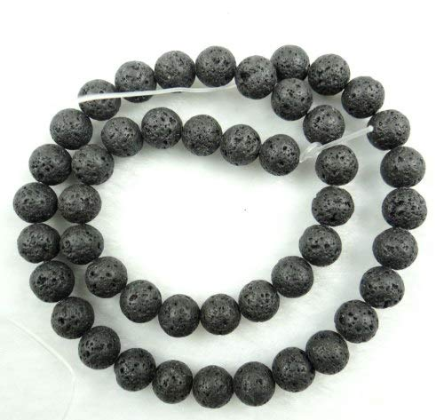 Beads & Jewelry Making Jewelry & Accessories Shop For Cheap 1pack Essential Oil Natural Lava Rock Stone Beads Diy Making Necklace Bracelet White Black Natural Volcanic-stone Beads Jewelry