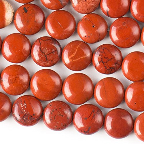 - Cherry Blossom Beads Red Jasper Beads 10mm Smooth Coin - 8 Inch Strand