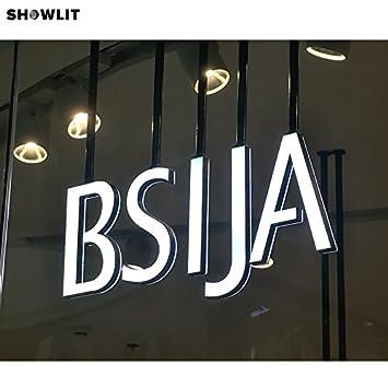 Amazon.com: Doble Canal de iluminación interior tienda signo ...