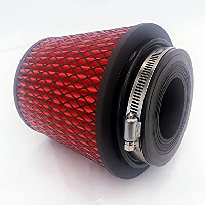 """Rev9Power Rev9_AF-001-RED; Universal High Performance Intake Cone W/ Adaptor From 2.25"""" to 4""""(Red): Automotive"""