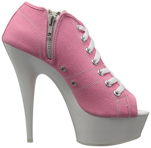 Pink DELIGHT 600SK White 01 Pleaser Neon Canvas xtFaBwq