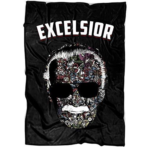 MEXSHOP Excelsior Soft Fleece Throw Blanket, I Love Stan Lee Fleece Luxury Blanket (Medium Blanket (60