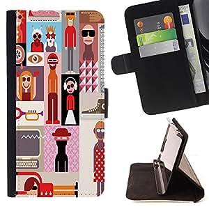 Dragon Case - FOR Sony Xperia Z1 Compact D5503 - lost in the search - Caja de la carpeta del caso en folio de cuero del tirš®n de la cubierta protectora Shell