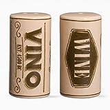 "Tag 203699 Wine Corks Salt & Pepper Shakers, 2.5 x 1.25"", Beige"