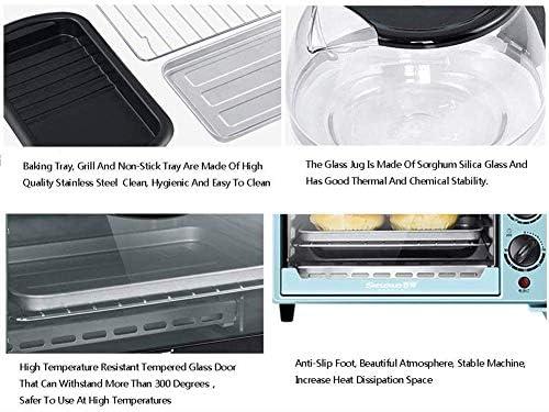 KTDT 1050W 3 en 1 Machine à Petit déjeuner électrique Multifonction Pizza Pain Four cafetière poêle à Frire Grille-Pain Bricolage Fabricant de Petit déjeuner