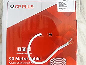 CP PLUS Copper Coaxial Cable 90 m (White) Wiring & Connecting at amazon