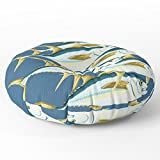 Society6 School Of Tuna, Fish Floor Pillow Round 30'' x 30''