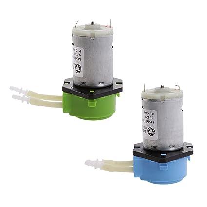 perfk 2 Pieza 12V Bomba Dosificadora Peristáltica Cabeza para Acuario Laboratorio de Agua Analítica