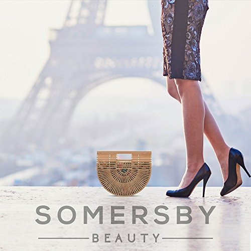 Bamboo Handbag - Womens Basket Bag with Purse Insert - Handmade Summer Tote by Somersby Beauty (Image #5)