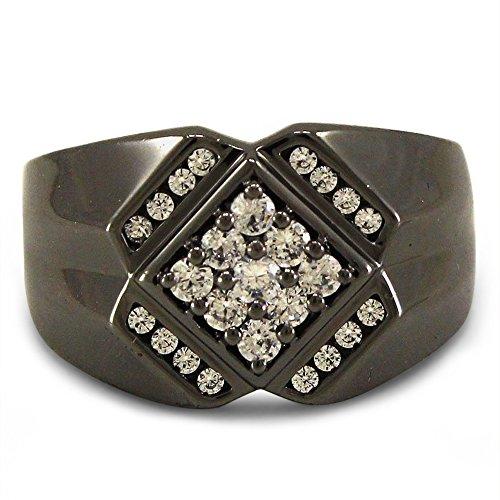 df6900783107 Nuevo Lilu Jewels - Anillo redondo brillante con circonita cúbica para  hombre