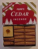 "1 X 50 Paine's Red Cedar Cones With Holder - ""Thrift Box"""