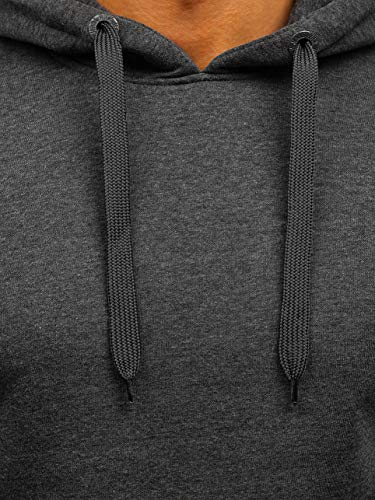 Bolf Anthracite Sportif Capuche Longues Sweatshirt Basique Hiver Kangourou Manches Poche 2009 Homme Avec 1a1 rv7wZqr