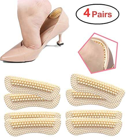 Heel Cushion Inserts for Women|4 Pairs(2mm&3.8mm Thickness respectively) | Heel Protectors|Heel Pads |Heel Grips| High Heel Insert Preventing Heel Rubbing and Blisters and Slip Out(Beige) (A)