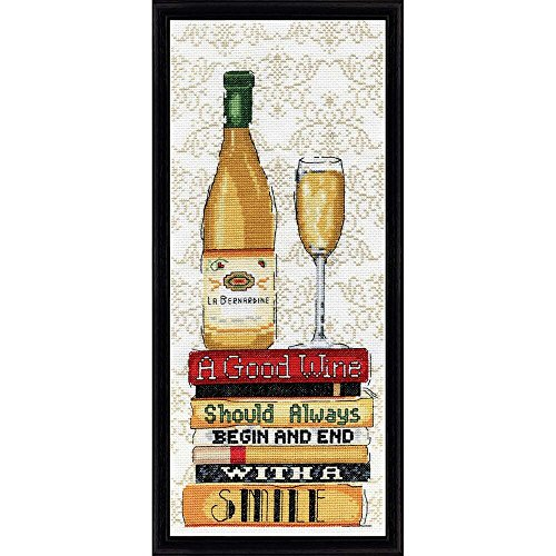 """Design Works Counted Cross Stitch Kit 6"""" x 14"""" ~ WHITE WINE"""