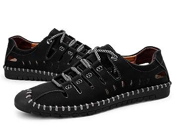 Ywqwdae Mocasines con Cordones para Hombre Zapatos de conducción Respirables Ocasionales sin Slip para Hombre (Color : Negro, tamaño : EU 39): Amazon.es: ...