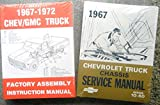 1967 CHEVY 10-60 TRUCK, PICKUP REPAIR SHOP And SERVICE MANUAL and ASSEMBLY MANUAL C,K,P, H,J,M, S, T, W, Suburban stepside fleetside panel van P-Chassis Stepvan forward control medium duty