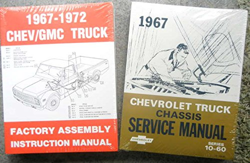 (1967 CHEVY 10-60 TRUCK, PICKUP REPAIR SHOP And SERVICE MANUAL and ASSEMBLY MANUAL C,K,P, H,J,M, S, T, W, Suburban stepside fleetside panel van P-Chassis Stepvan forward control medium duty)