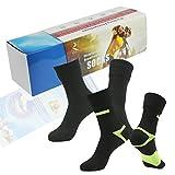 [SGS Certified] RANDY SUN Unisex Waterproof & Breathable Hiking/Trekking/Ski Socks, 02 Pairs-black2-with Gift Box, Medium