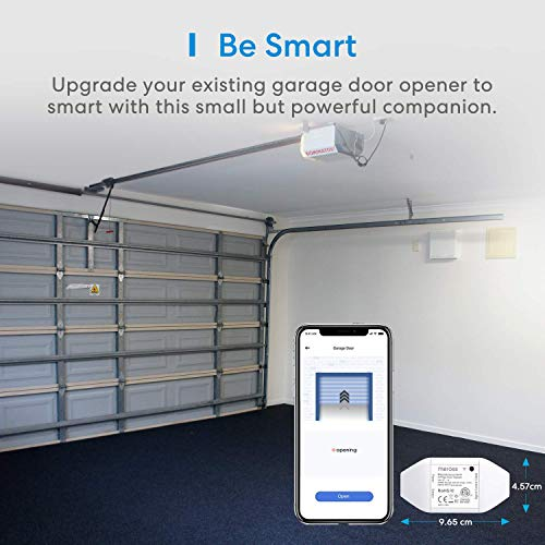 meross Smart Garage Door Opener Remote, APP Control, Compatible with Alexa, Google Assistant and SmartThings, Multiple Notification Modes, No Hub Needed