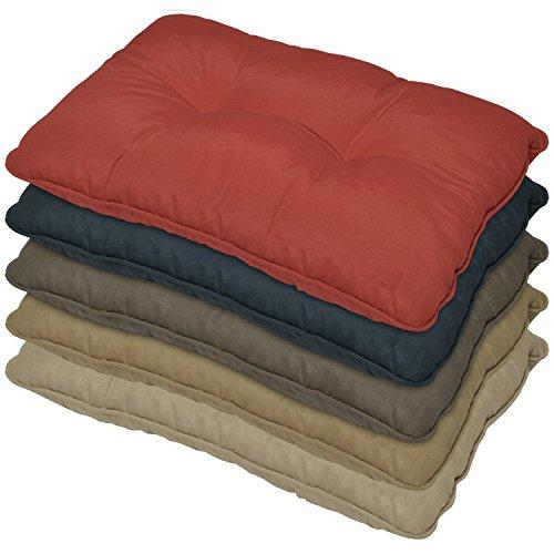 Outdoor Lounge-Kissen - Rot 60x40x12 cm - wasserabweisendes Rücken-Kissen - Polster für Rattan-, und Gartenmöbel