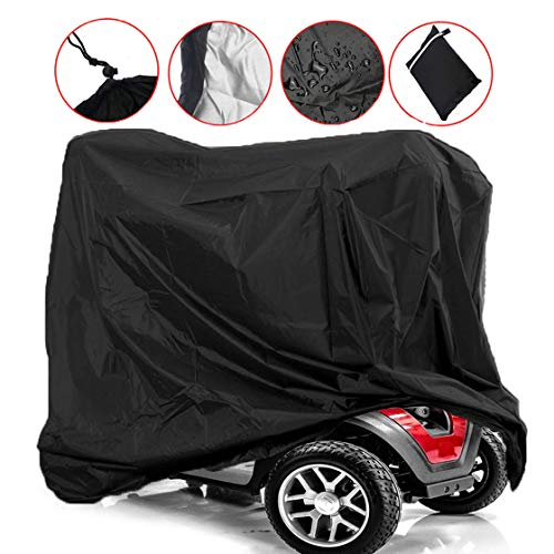 (Mobility Scooter Storage Cover, Wheelchair Waterproof Storage Cover Lightweight Rain Protector from Dust Dirt Snow Rain Sun Rays - 67 x 24 x 46 inch (L x W x H))