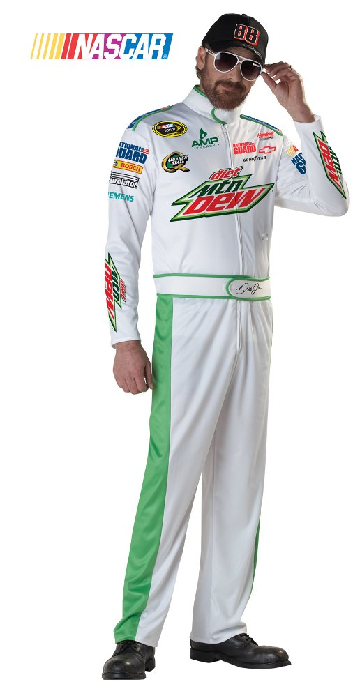 California Costumes Nascar Dale Earnhardt Jr, White, X-Large Costume