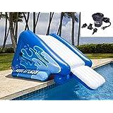 New Shop INTEX Kool Splash Inflatable Swimming Pool Water Slide + Quick Fill Air Pump