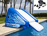 NEW! INTEX Kool Splash Inflatable Swimming Pool Water Slide + Quick Fill Air Pump