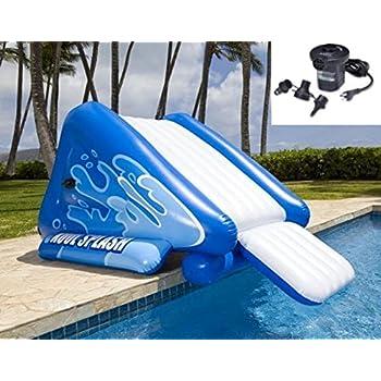 New Shop Intex Kool Splash Inflatable Swimming Pool Water Slide Quick Fill Air