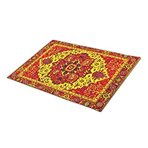 Marvies Monogrammed Door Mat Carpet Flying Carpet Knit Rubber Backed Mats