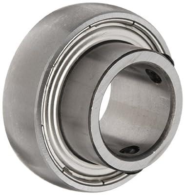 SB205 Axle Insert Mounted Bearing, 2 Bolt, 25mm Inside Diameter, Set screw Lock, Steel, Metric