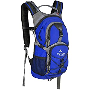 TETON Sports Oasis 1100 Hydration Pack | Free 2-Liter Hydration Bladder | Backpack design great for Hiking, Running, Cycling, and Climbing | Bright Blue