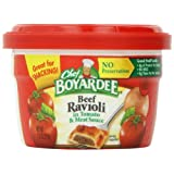 Chef Boyardee Beef Ravioli, 7.5-Ounce Microwavable Bowls (Pack of 12)