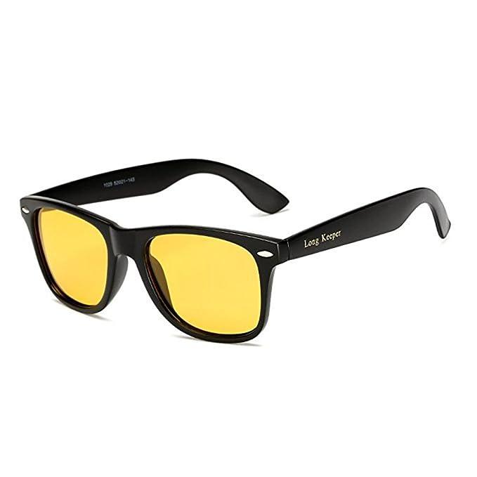 Long Keeper Gafas de sol Polarizadas Gafas de sol Cuadradas Vendimia Clásico para Mujeres Hombres (