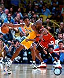 Michael Jordan & Kobe Bryant 1998 Action Photo 8 x 10in
