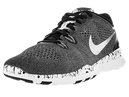 best sneakers 3a32c 9e8ce Galleon - NIKE Women s WMNS Free 5.0 TR Fit 5 PRT, Black Metallic Silver- White-Cool Grey, 5 M US