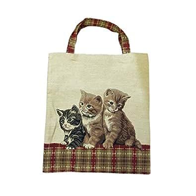 Bolsa para compras reutilizable Signare para mujer en tela de tapiz bolsa eco 3 Gato