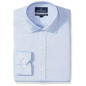 Amazon Brand - BUTTONED DOWN Men's Tailored Fit Check Non-Iron Dress Shirt 18