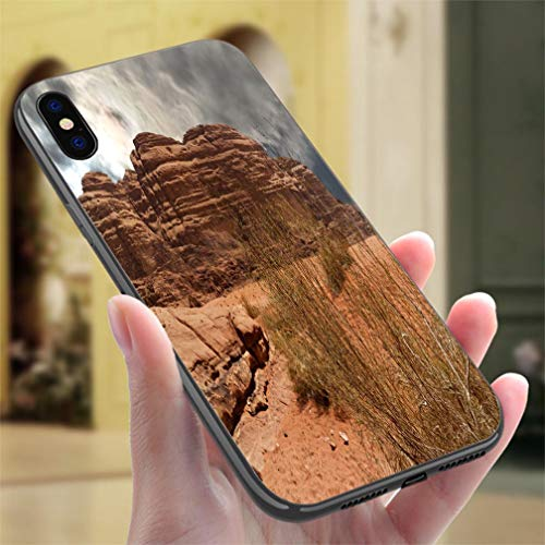 (Creative iPhone Case for iPhone 7/8Plants Fight for Survival in The Great Dry Desert in The Wadi Rum Nature Reserve Resistance to Falling, Non-Slip,Soft,Convenient Protective Case)