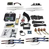 QWinOut Full Set DIY RC Drone Quadcopter: X4M380L Frame Kit + APM2.8 Super Flight Control + Flysky FS-i6 6CH Transmitter
