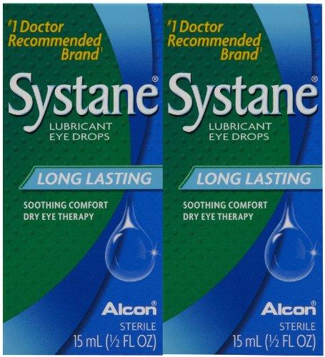 Systane Lubricant Eye Drops-0.5 oz, 15mL, 2 pack