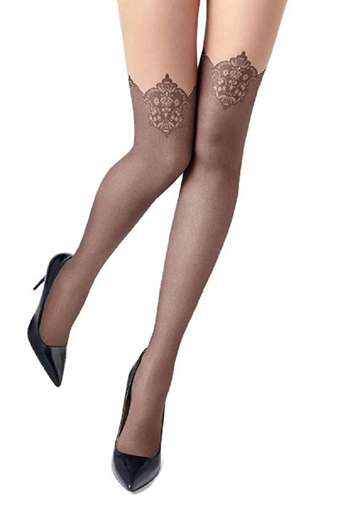 f9d62635d Marilyn Mock Suspender Tights Over Knee Stockings Illusion Thigh Highs at  Amazon Women s Clothing store