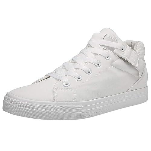 Kinlene Moda para Hombre con Cordones Lona Deportiva Mocasines Casual Zapatillas Sólidas Zapatos Planos: Amazon.es: Zapatos y complementos